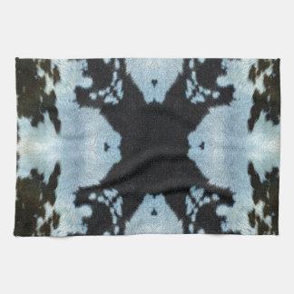 Kaleidoscope cow hide pattern kitchen towels