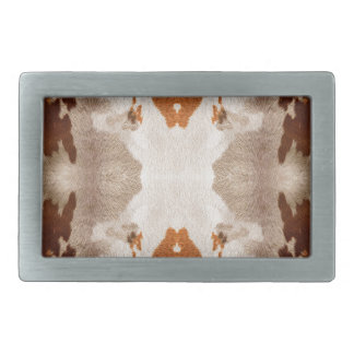 Kaleidoscope Cow Hide Pattern Rectangular Belt Buckle