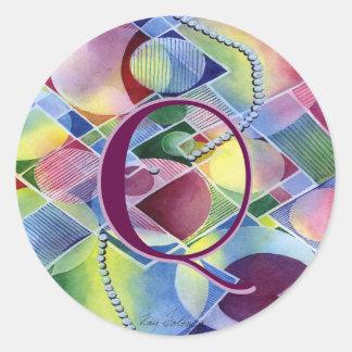 Kaleidoscope Customizable Abstract Classic Round Sticker