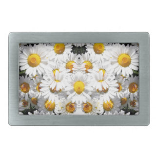 Kaleidoscope Daisies Pattern Rectangular Belt Buckle