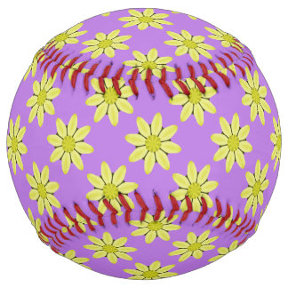 Kaleidoscope Daisy Abstract Softball