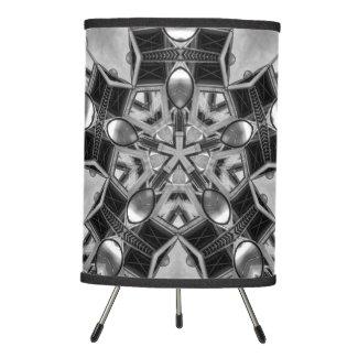 Kaleidoscope dark grey Star... Tripod Lamp