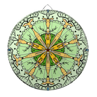 Kaleidoscope deer dart board