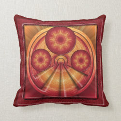 Kaleidoscope Design  BT1 Throw Pillow