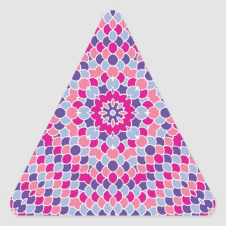 Kaleidoscope Design Colorful Scales Triangle Sticker