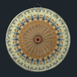 "Kaleidoscope Design Dart Board<br><div class=""desc"">A design of a kaleidoscope and pretty colors. You can customize this item to how you like.</div>"