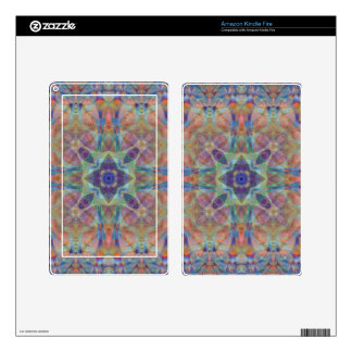 Kaleidoscope Design F2 Skin For Kindle Fire