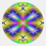 Kaleidoscope Design FE24 Round Sticker