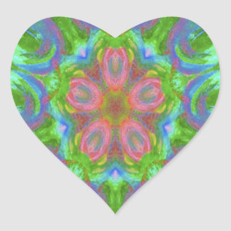 kaleidoscope design image heart sticker