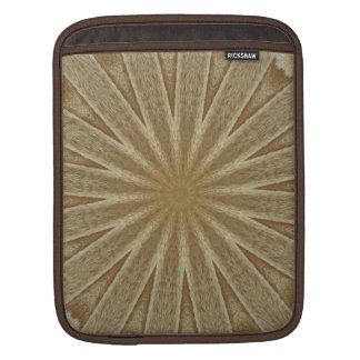 Kaleidoscope Design Light Brown Rustic Floral iPad Sleeve