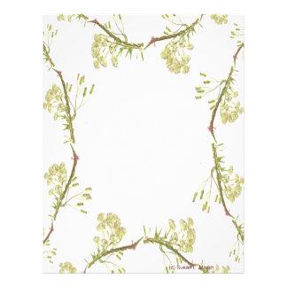 Kaleidoscope design made with flower stems flyer design