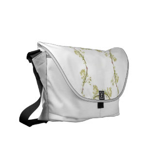 Kaleidoscope design made with flower stems messenger bag