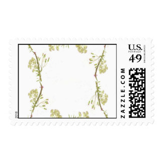 Kaleidoscope design made with flower stems stamps
