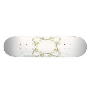 Kaleidoscope design made with flower stems skate board decks