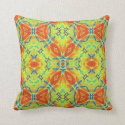 Kaleidoscope Design No 1013 Throw Pillow