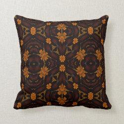 Kaleidoscope Design No 1014 Throw Pillow
