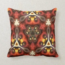 Kaleidoscope Design No 1027 Throw Pillow
