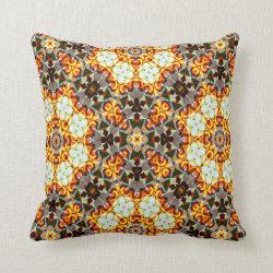 Kaleidoscope Design No 1113 Throw Pillow