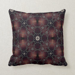 Kaleidoscope Design No 1171 Throw Pillow