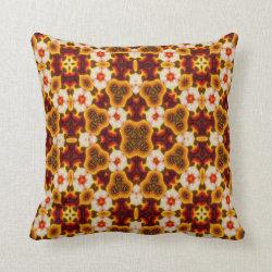 Kaleidoscope Design No 1177 Throw Pillow