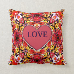Kaleidoscope Design No 1182 Throw Pillow