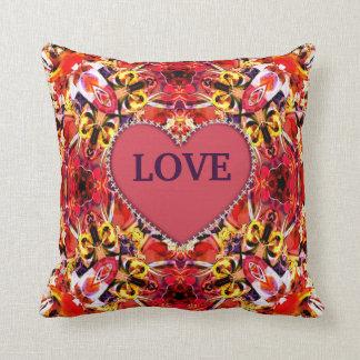 Kaleidoscope Design No 1182 Throw Pillow
