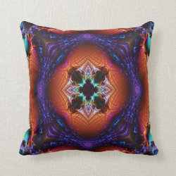 Kaleidoscope Design No 1185 Throw Pillow