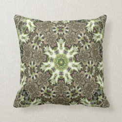 Kaleidoscope Design No 1193 Throw Pillow