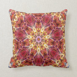 Kaleidoscope Design No 1196 Throw Pillow