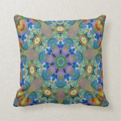 Kaleidoscope Design No 1197 Throw Pillow