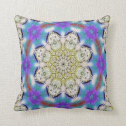 Kaleidoscope Design No 1211 Throw Pillow