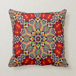 Kaleidoscope Design No 1225 Throw Pillow