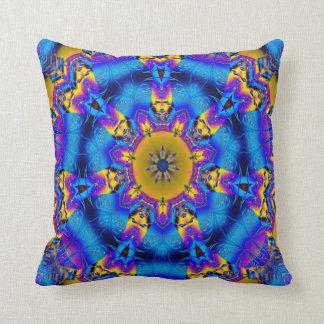 Kaleidoscope Design No 1227 Throw Pillow
