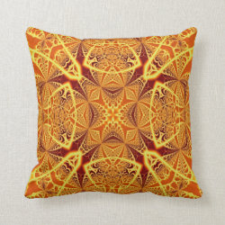 Kaleidoscope Design No 1229 Throw Pillow