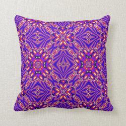 Kaleidoscope Design No 1231 Throw Pillow