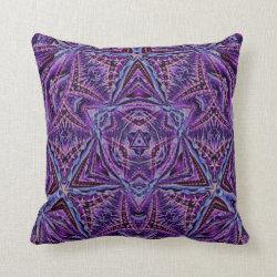 Kaleidoscope Design No 1237 Throw Pillow