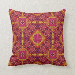 Kaleidoscope Design No 1239 Throw Pillow