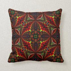 Kaleidoscope Design No 1245 Throw Pillow