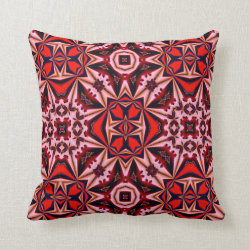 Kaleidoscope Design No 1246 Throw Pillow