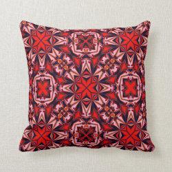 Kaleidoscope Design No 1247 Throw Pillow