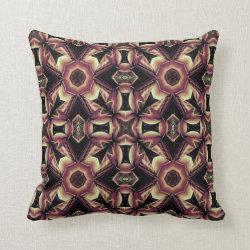 Kaleidoscope Design No 1250 Throw Pillow