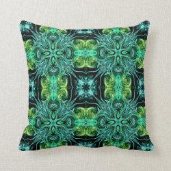 Kaleidoscope Design No 1252 Throw Pillow