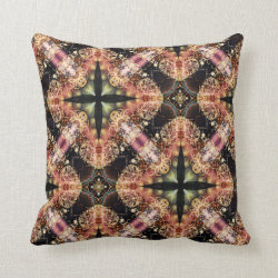 Kaleidoscope Design No 1257 Throw Pillow