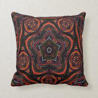 Kaleidoscope Design No 1261 Throw Pillow
