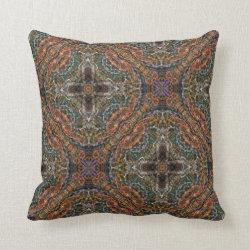 Kaleidoscope Design No 1262 Throw Pillow
