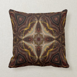Kaleidoscope Design No 1265 Throw Pillow