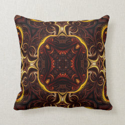 Kaleidoscope Design No 1266 Throw Pillow