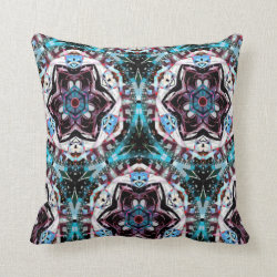 Kaleidoscope Design No 1273 Throw Pillow