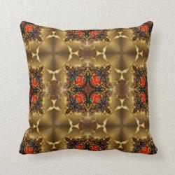 Kaleidoscope Design No 1291 Throw Pillow