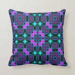Kaleidoscope Design No 734 Throw Pillow
